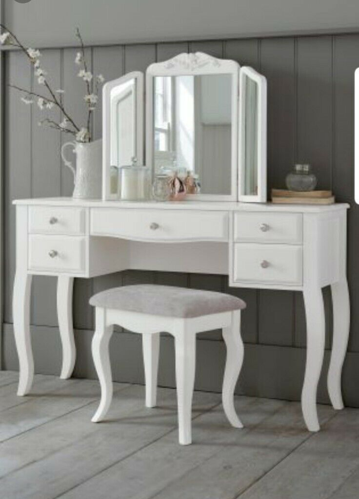 Next Marielle White Dressing Table Set, Mirrored Dressing Table Set Gumtree