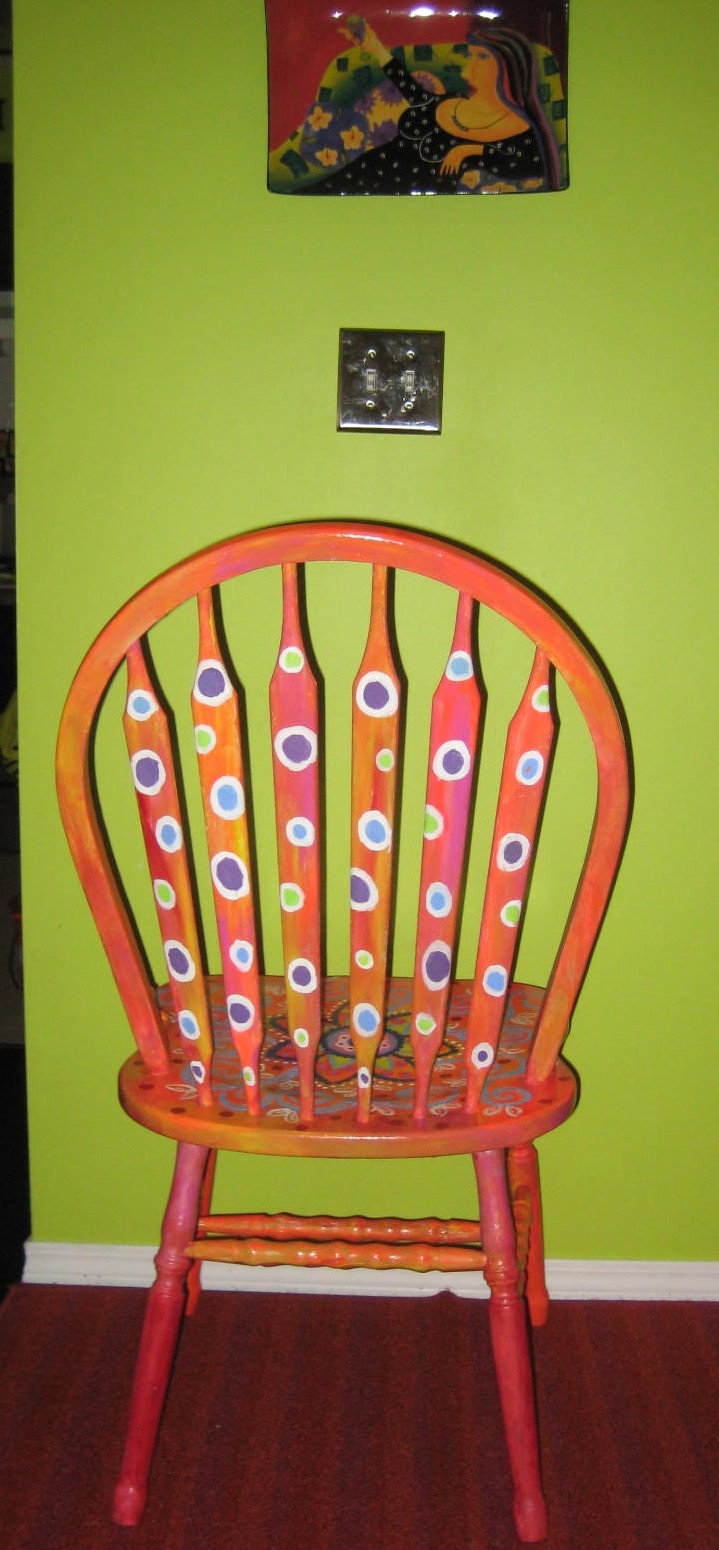 Funky painted furniture ideas - Happy Tiler Happy Paint Party Friday 23