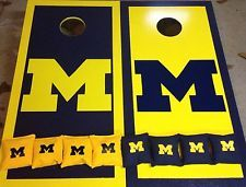 University of Michigan cornhole decal sticker for cornhole, car windows,or Walls