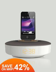 Philips DS1150 Docking Speaker for iPod/iPhone (White-Grey)