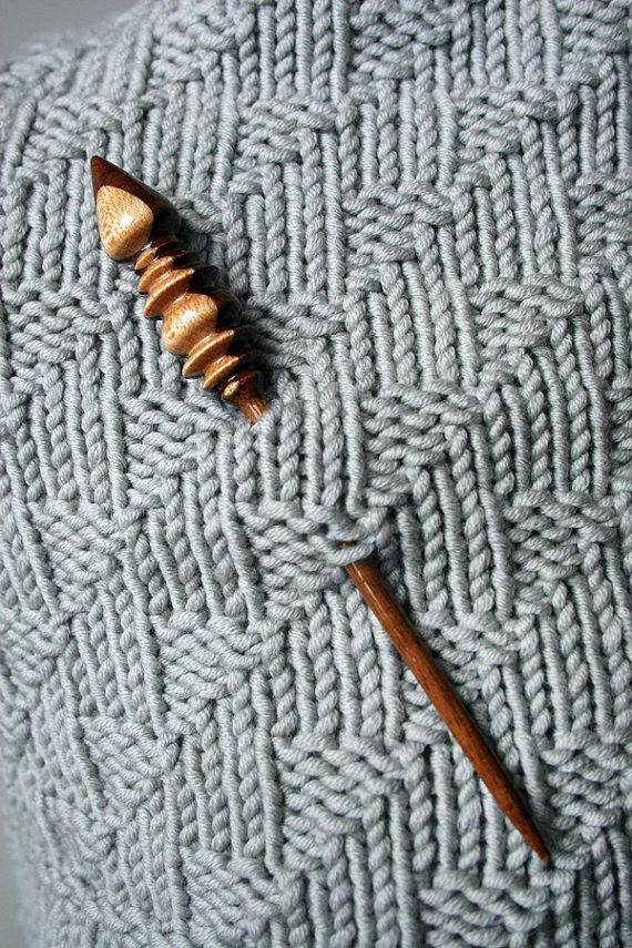Knitting Wearable Art : Wood shawl pin for knit crochet accessories handmade by
