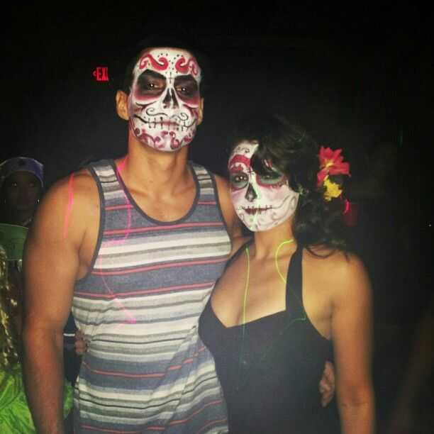 Sugar skull, couple.