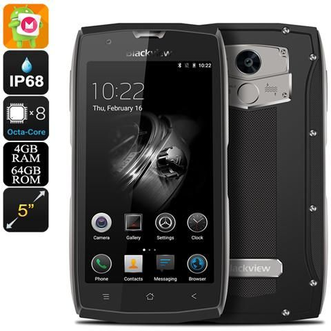 BLACKVIEW - 7000 Pro Android Phone - Ip68, Octa-core Cpu, Android 6.0, 4gb Di Ram, Nfc, Dual-imei, 4g (grigio)  - ePrice