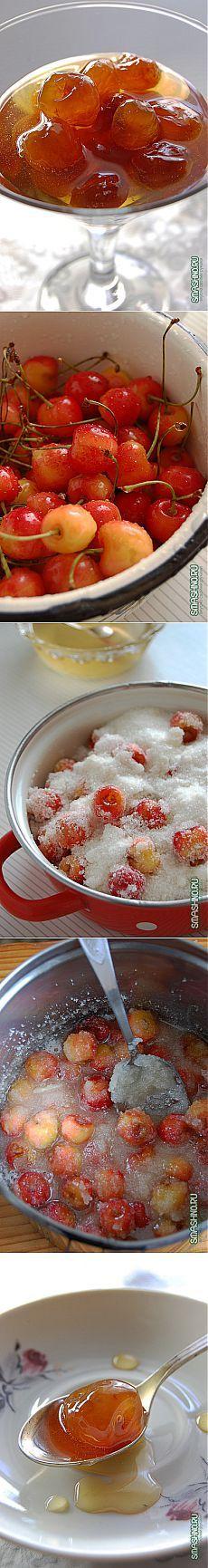 Янтарное черешневое варенье - пошаговый рецепт с фото