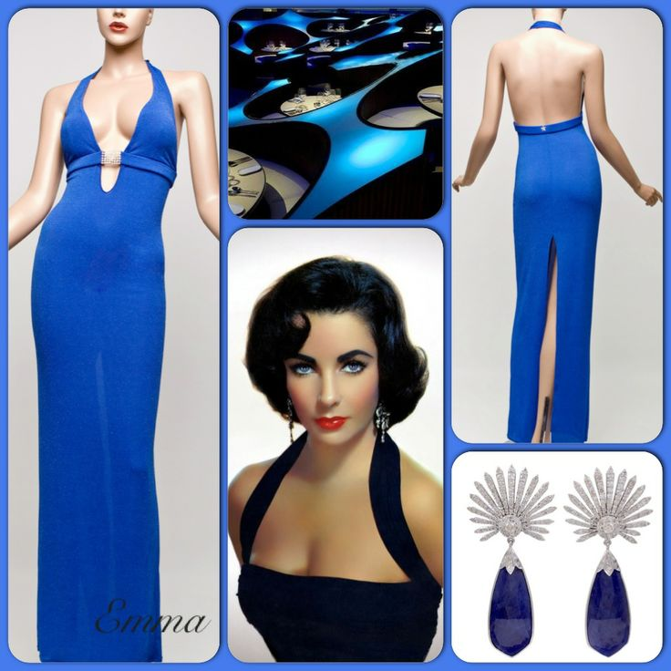 Emma is demure glamour at its finest. Imported Italian semi stretch fabric with eye-catching threads throughout, defines this semi fitted long halter style dress.  A beautiful empire waist support is the standout feature and Emma also hosts a high back split with Swarovski crystal clasp for closure.
