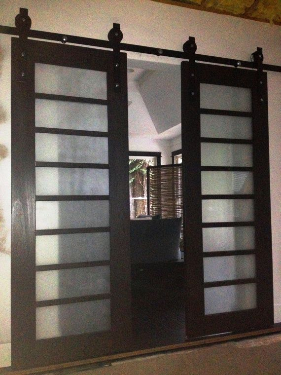 29 best images about folding gliding interior doors on for Barn door screen door