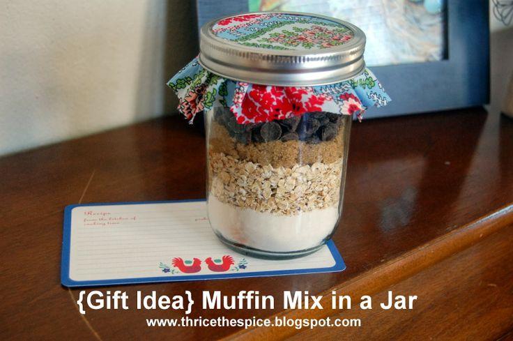 {Gift Idea} - Chocolate Chip Muffin in a JAR!