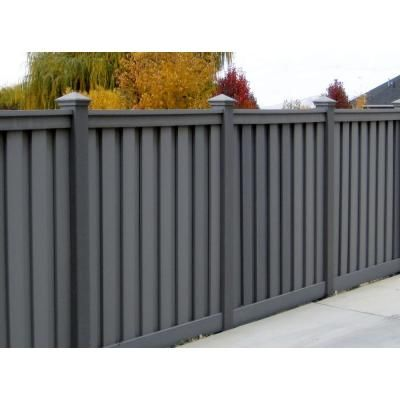 Trex Seclusions 90-1/2 in. x 4 in. x 72 in. Winchester Grey Privacy Fence Kit-WGPFK68 - The Home Depot