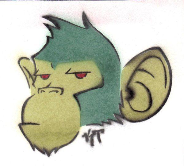 Crazy Monkey Art | Crazy Monkey Stencil Kelden Deviantart