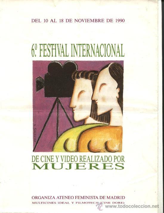 TRÍPTICO 6º FESTIVAL INTERNACIONAL DE CINE Y VÍDEO REALIZADO POR MUJERES 1990