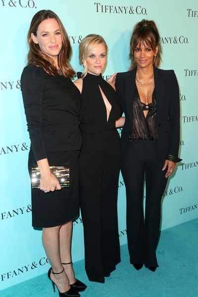 Actresses Jennifer Garner, Reese Witherspoon, and Halle Berry celebrate the unveiling of the renovated Tiffany & Co. Beverly Hills store.