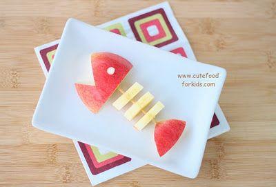Fish fruit for Great Barrier Reef: Fun Food, Fish Snacks, For Kids, Apples Snacks, Lemon Water, Apples Fish, Food Art, Funny Fish, Cute Food