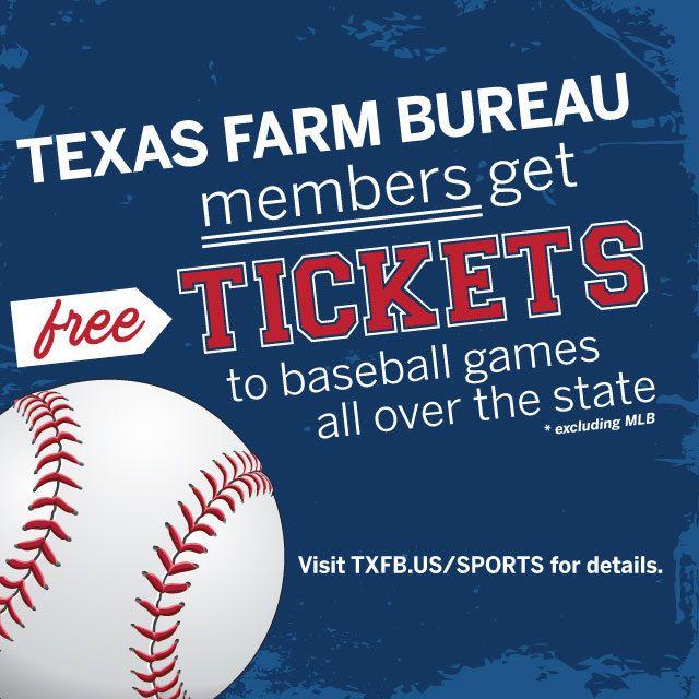 Score Complimentary Tickets To Regular Season Home Games Texas Farm Bureau Texas Farm Baseball Games