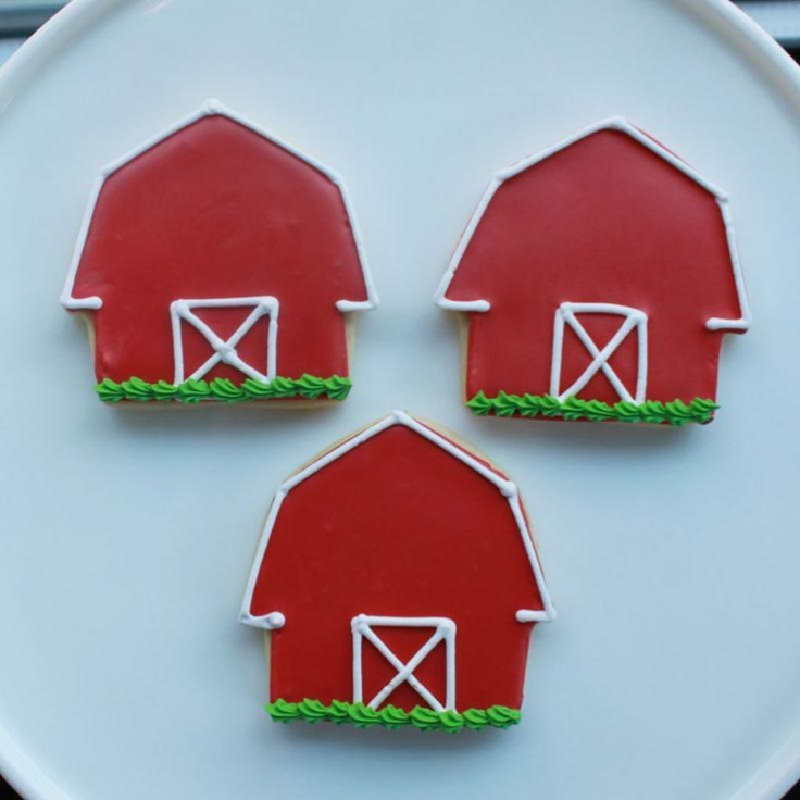 Little Red Barn Cookie Favors