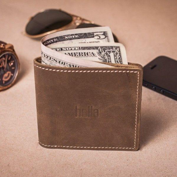 Pánská kožená peněženka - světle hnědá