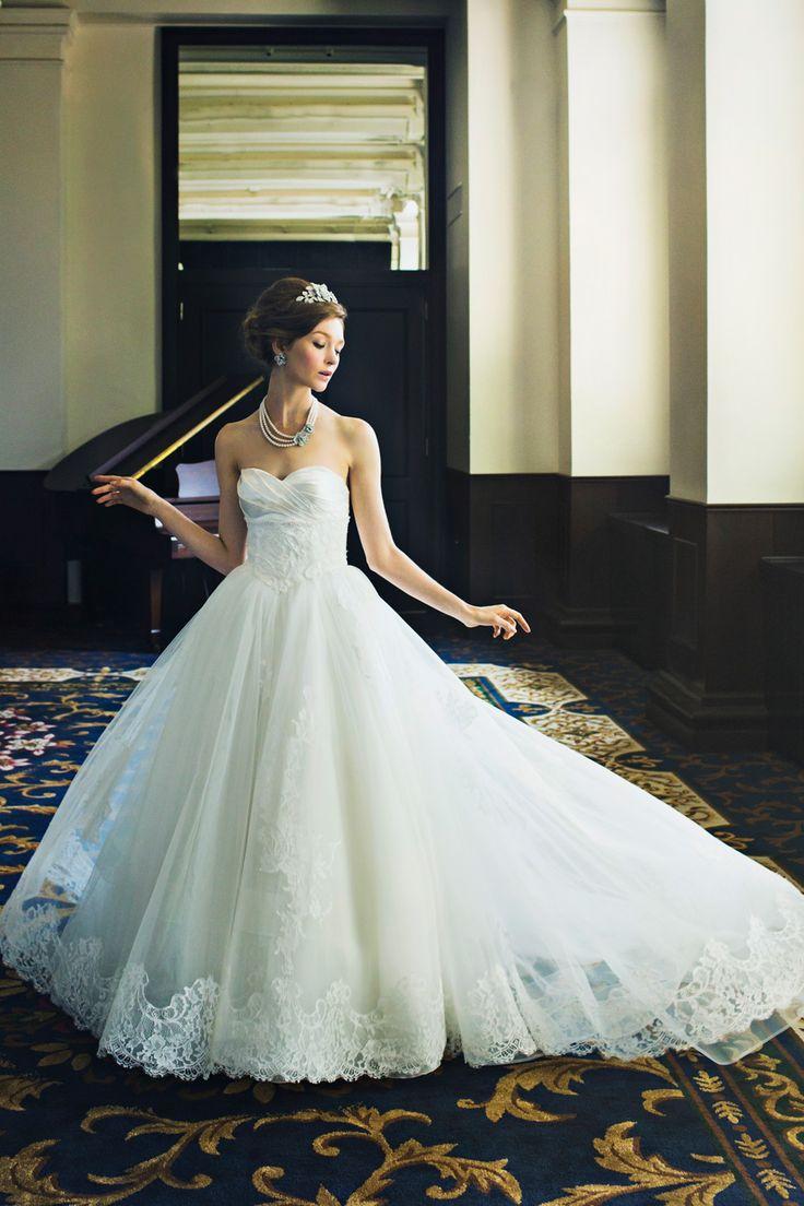 BTNV179 #NOVARESE #weddingdress #lace #ノバレーゼ #ウエディングドレス #ノバレーゼ #プリンセスライン #チュール #レース