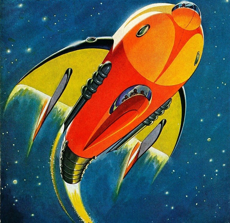 Great Bookcover Designs: 1000+ Images About Vintage / Retro Sci Fi Art On Pinterest