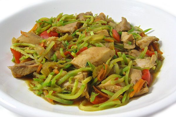 (Crock-pot) Skinny Asian Style Chicken and Vegetables. Delicious beyond words! It's loaded with chicken, veggies and broccoli slaw. Each serving, 200 calories, 1g fat and 5 Weight Watchers POINTS PLUS. http://www.skinnykitchen.com/recipes/crock-pot-skinny-asian-style-chicken-and-vegetables/