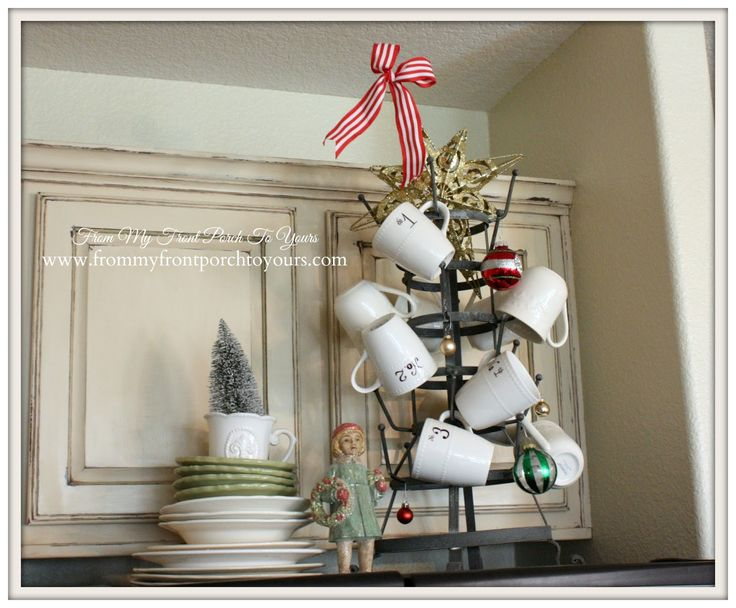 Decor Steals-French Bottle Drying Rack-French Farmhouse Christmas Kitchen- From My Front Porch To Yours
