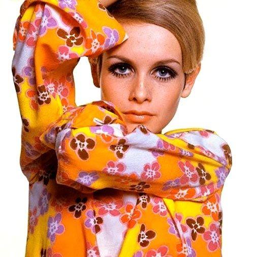 Twiggy. Mod .1960's style