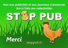 Autocollant STOP PUB campagne