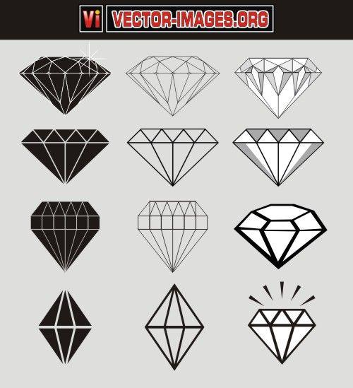 free_diamond_vector.jpg (500×549)
