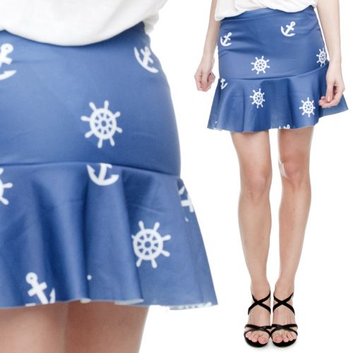 Spódniczka fullprint MARINE BLUE #Silvermet