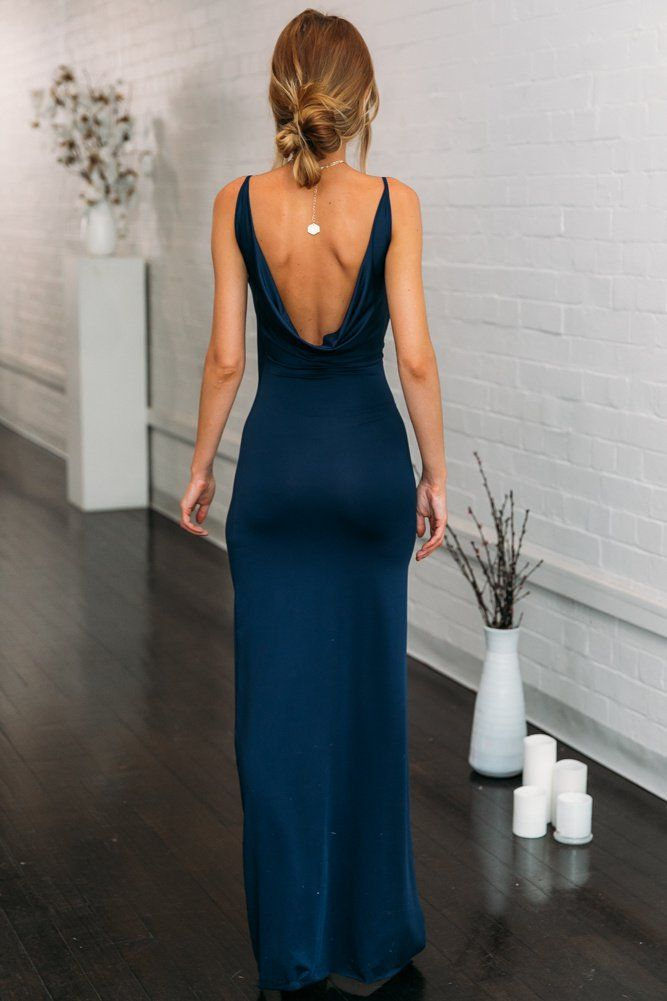 Bullseye Maxi Dress Navy 2