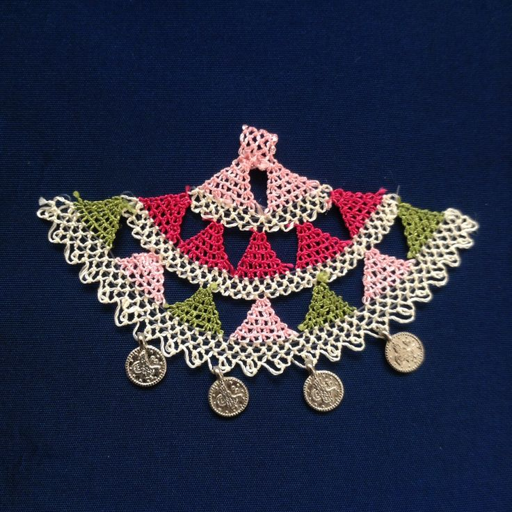 needle lace#necklace#iğne oyası#efe