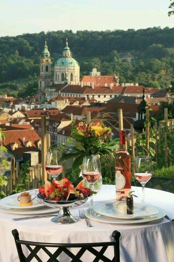 Great view for dinner at Villa Richter, Prague Czech Republic.