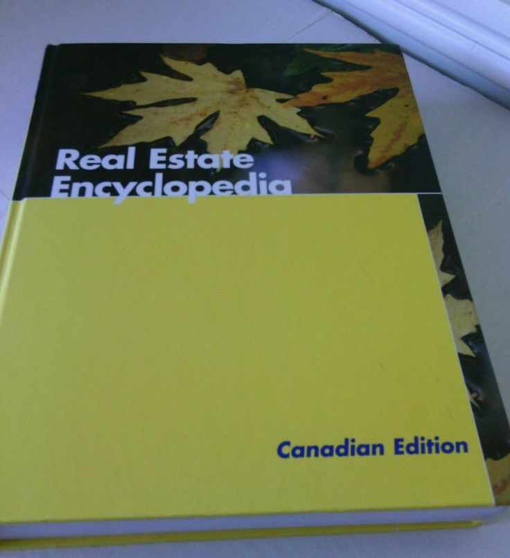 Canadian Edition Real Estate Encyclopedia Book Hardcover House Sales Canada Info | eBay