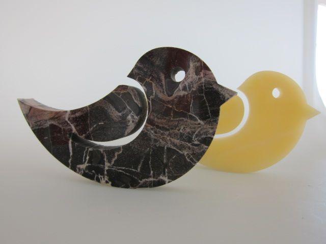 tweet marble paperweight