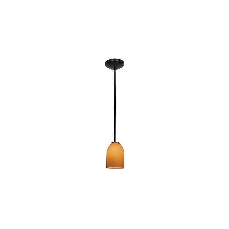 """Access Lighting 28018-4R/AMB Bordeaux 1 Light LED Pendant - 5"""" Wide with Amber G"""