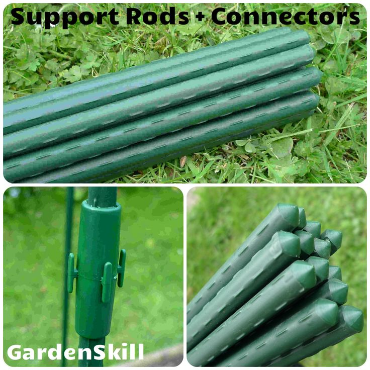 Plastic Covered Steel Plant Support Rod Stake Sets A