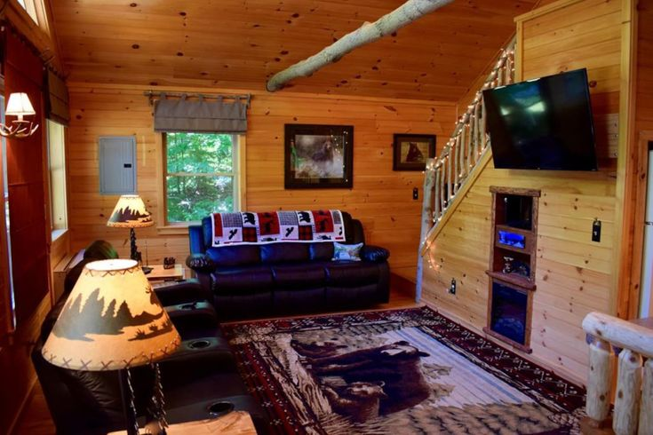 Whispering Pines Cabins For Rent In Old Forge New York United States Pine Cabin Cabin Bed And Breakfast