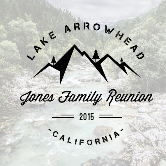 Family Reunion T-Shirt  Mountain Design Digital File by BAJDESIGNS
