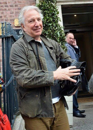 Alan Rickman is spotted leaving The Merrion Hotel in Dublin, Ireland on March 27, 2015.