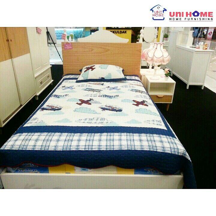 Bed & Night stand Korea Series. Visit our showroom, we've got in store deals going on for our #Unihomeshoppers !  Showroom: Ruko Emerald Avenue 2 #B12 Sektor 9, Jln Boulevard Bintaro Jaya, Tangerang Selatan. 021-22210817 / 0812-1385-7691 Line: Unihome / Wa: 0878-8432-5705