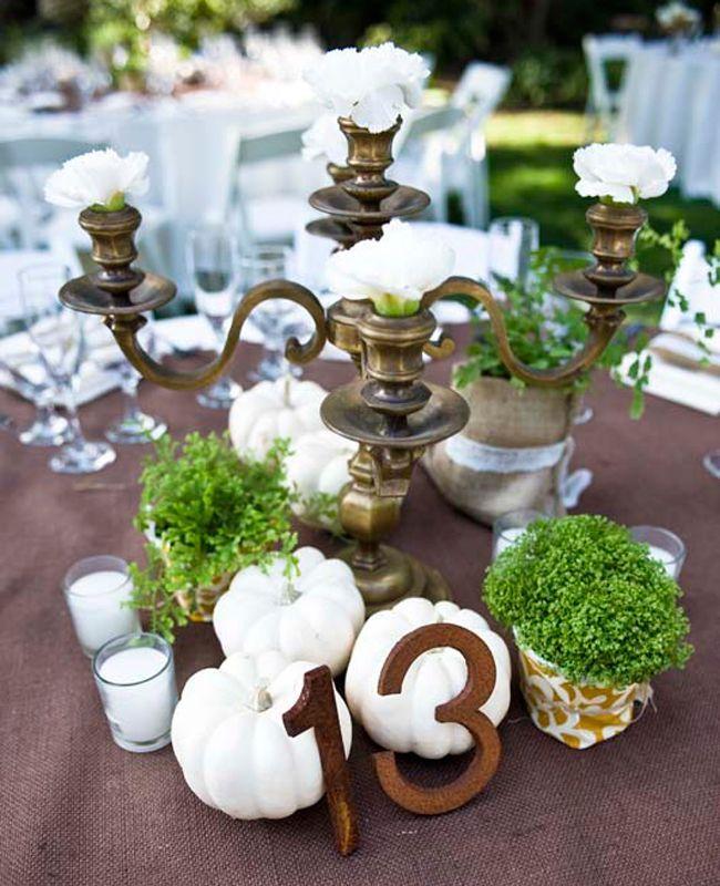 Best 25 white pumpkin centerpieces ideas on pinterest for White pumpkin table decorations