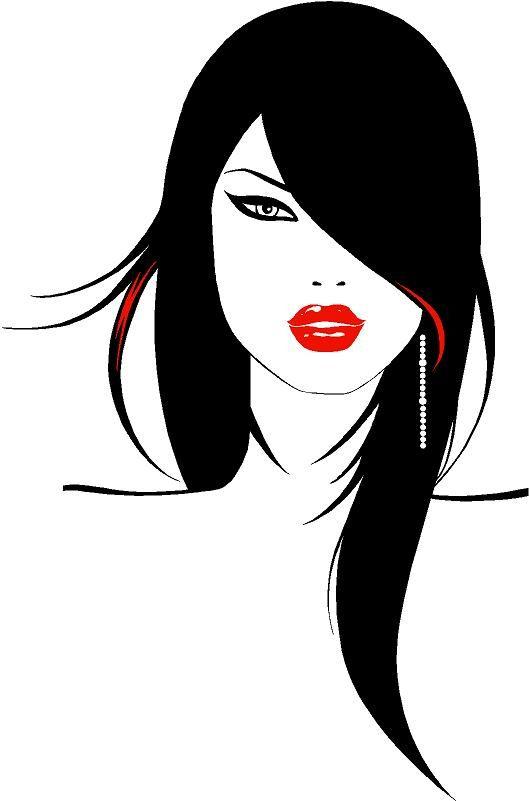 Rostro de mujer silueta - Imagui