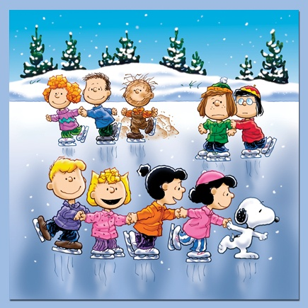 ❄️❄️The peanuts gang love to go ice skating in the Winter time❄️❄️