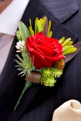 Red Roses Boutonnieres
