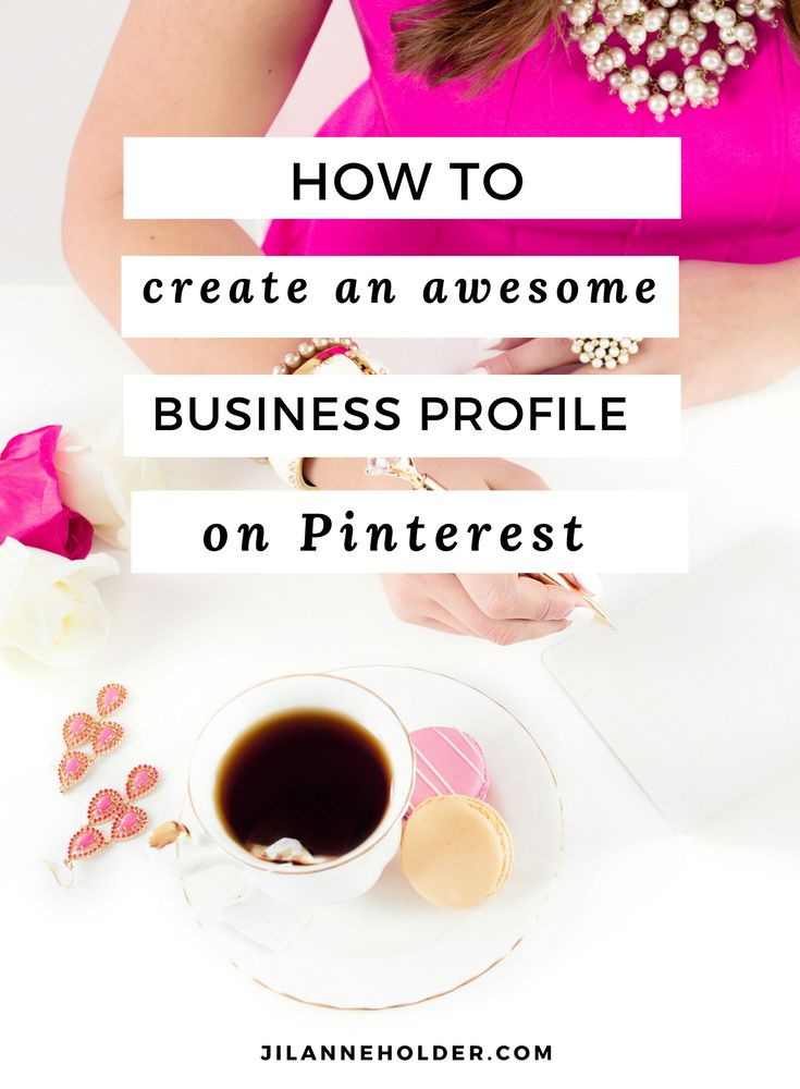 How to create an awesome business profile on Pinterest to attract your ideal clients.