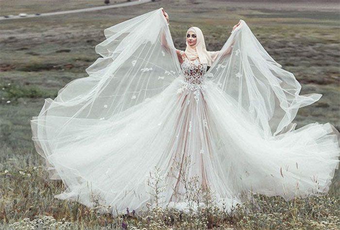 Las despampanantes novias musulmanas y sus elaborados vestidos