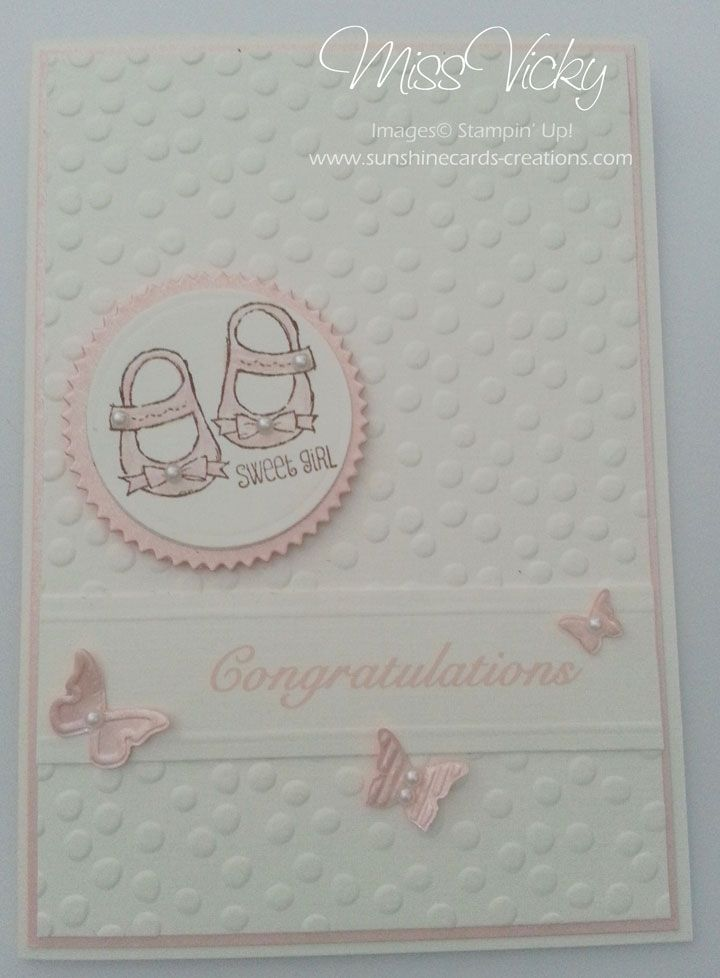 Cards - Baby Girl Stamp Set - Baby, We've Grown Stampin' Up!
