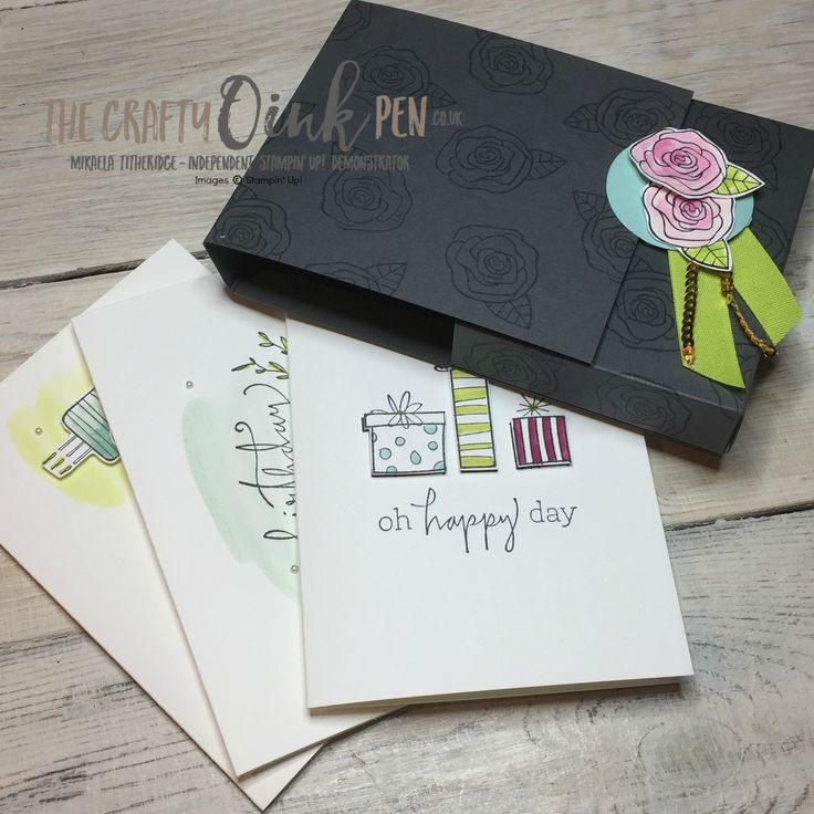Quick and easy Stamping on the Happiest of Days with Mikaela Titheridge, The Crafty oINK Pen, UK Stampin' Up Demonstrator, Cambridgeshire, UK. Note card holder. Supplies available through my online store 24/7