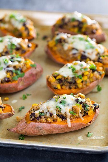 honey lime quinoa stuffed sweet potatoes