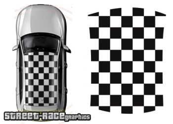 Audi A1 roof chequered flag squares graphics