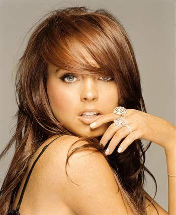 Love the color!Auburn Hair, Hair Colors, Haircolor, New Hair, Hair Cut, Lindsay Lohan, Bangs, Hair Style, Lindsaylohan