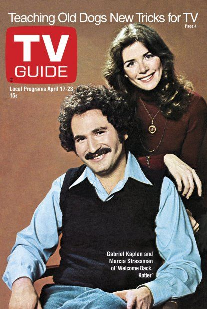 TV Guide April 17, 1976 - Gabe Kaplan and Marcia Strassman of Welcome Back Kotter.
